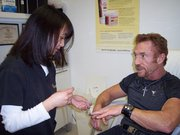 Danny Bonaduce during tattoo removal