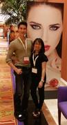 Claire with 'The Human Ken Doll', Justin Jedlica
