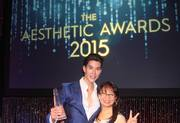 2015 Aesthetic Award ceremony with Justin